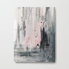 Soft Pink Abstract Metal Print