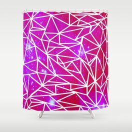Starry Crystalline Space Pattern III Shower Curtain