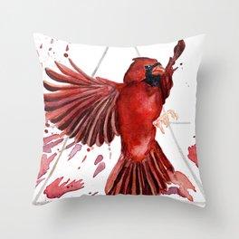 Air Cardinal Throw Pillow