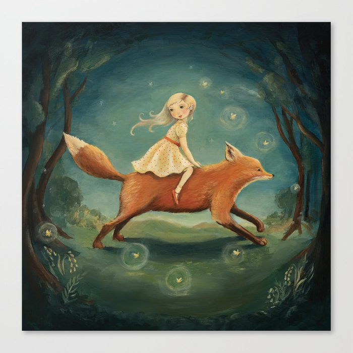Fox Girl by Emily Winfield Martin Leinwanddruck