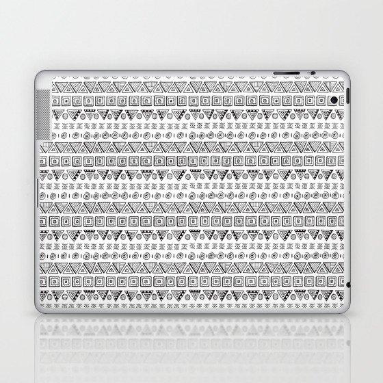 Black & White Hand Drawn Pattern Laptop & iPad Skin