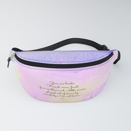 Give me books, French wine - Keats Fanny Pack