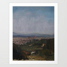 Firenze via Settignano Art Print