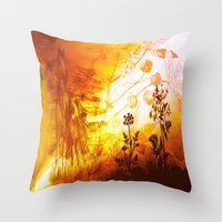 horses Throw Pillows featuring Horses by Vitta
