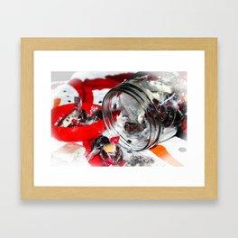 Christmas Candy Jar Framed Art Print