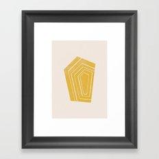 Geode II - in Citrine Framed Art Print