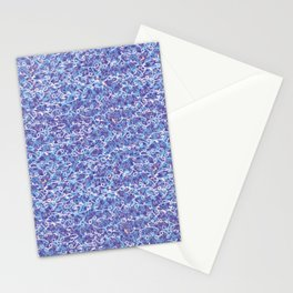 Cool blue abstract thread design Stationery Cards