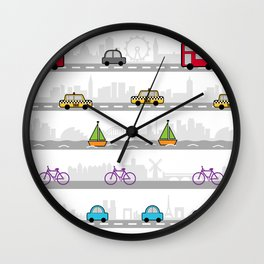 City travel Wall Clock