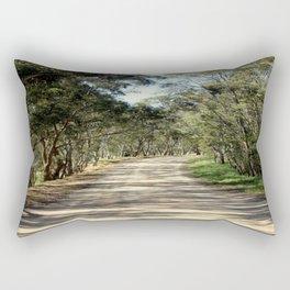 Along a dirt Road Rectangular Pillow