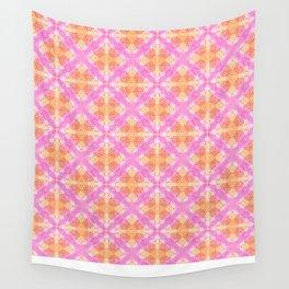 Pink Kaleidoscope Wall Tapestry
