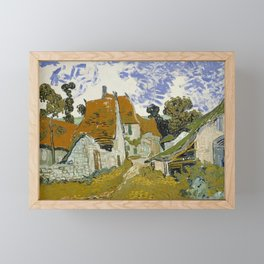 Vincent Van Gogh Street In Auvers-Sur-Oise Framed Mini Art Print