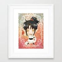 chibi Framed Art Prints featuring Chibi Ashura by Neo Crystal Tokyo