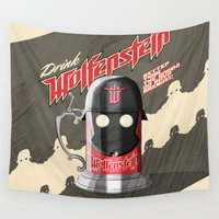 drink Wall Tapestries featuring Drink Wolfenstein by Geekleetist