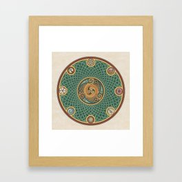 Celtic Knotwork Shield Framed Art Print