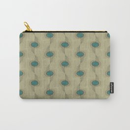 Teal Turquoise Circles Pattern Modern Abstract Carry-All Pouch
