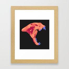 orange tiger skull Framed Art Print