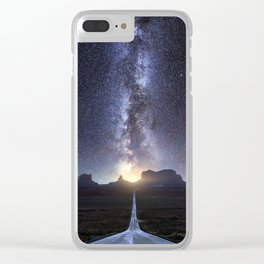 Monument Valley Milky Way Clear iPhone Case