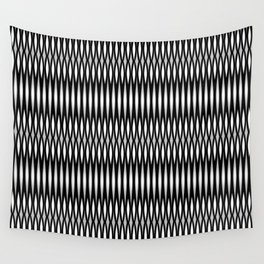 Mod Slashes in Black and White Wall Tapestry