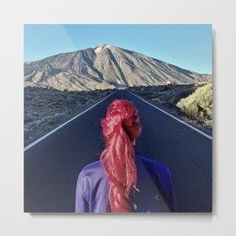 Monica and a volcano Metal Print