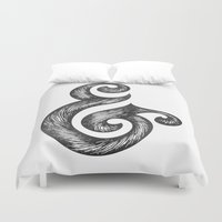 ampersand Duvet Covers featuring Ampersand by Norman Duenas
