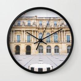 Buren's Columns, Le Palais Royal Courtyard, Paris, France Wall Clock