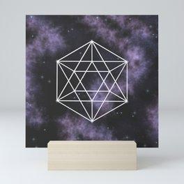 Icosahedron - Sacred Geometry Mini Art Print