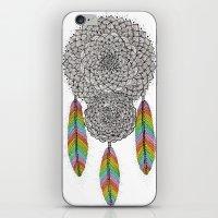 dream catcher iPhone & iPod Skins featuring Dream Catcher by Luna Portnoi