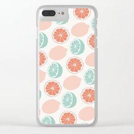 Mint lemonade Clear iPhone Case