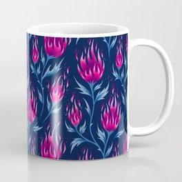 Fire Flower - Dark Pink Coffee Mug