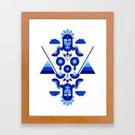 Libra in Blue Framed Art Print