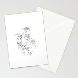 Funky Faces in One Line Stationery Cards