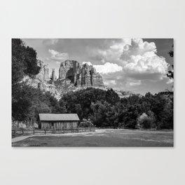 Sedona Mountain Landscape - Monochrome Edition Canvas Print