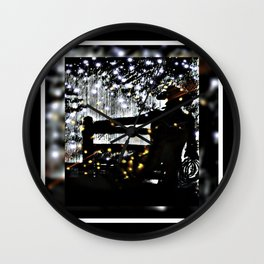 Starry Sky For The Cowboy In Montana Wall Clock