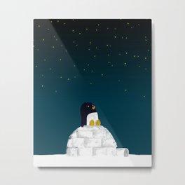 Star gazing - Penguin's dream of flying Metal Print