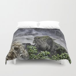 Chaotic water view Duvet Cover