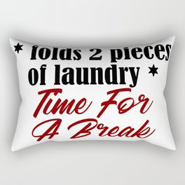Funny Laundry Lazy Bum Hate Chores Honest Truth Rectangular Pillow