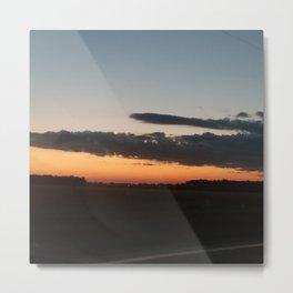 Sunset in corn Metal Print