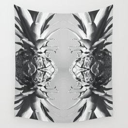 Silver Pineapple Wall Tapestry