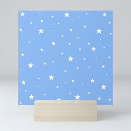 Scattered Stars on Sky Blue Mini Art Print