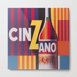 Cinzano Vintage Beverage Poster Metal Print