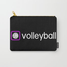 Volleyball (Purple) Carry-All Pouch