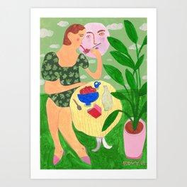 Pasta Romance Art Print