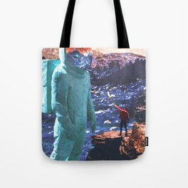 Giant and Man Surreal World Tote Bag