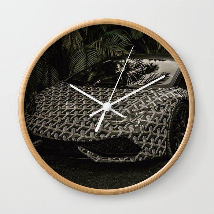 Goyard Luxury Car Wall Clock By Issavibe Society6