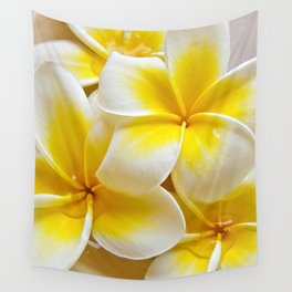 Plumeria Blossoms Wall Tapestry