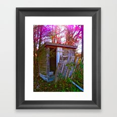 Roadside Shack Framed Art Print