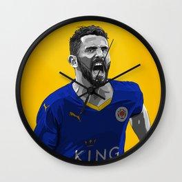 Riyad Mahrez - Leicester City Wall Clock