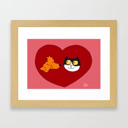 Dharma & Maya love love Framed Art Print