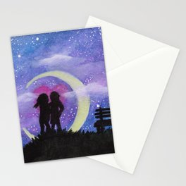 Galactic Lovers Stationery Cards