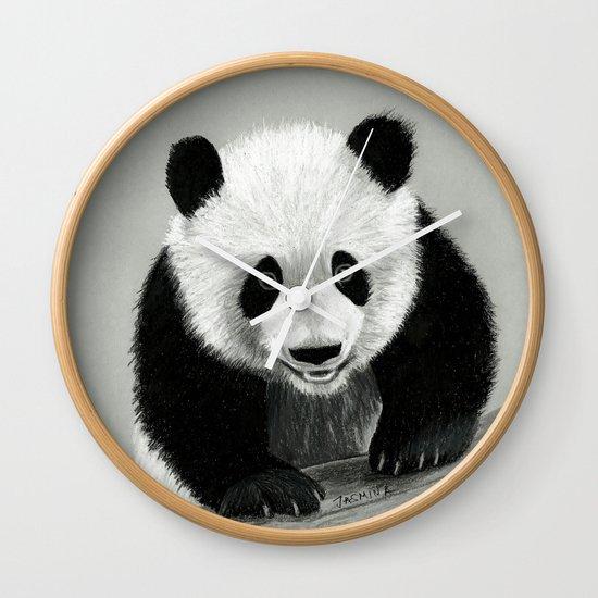Panda Drawing Wall Clock